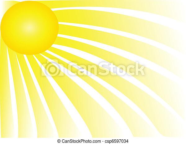 rayons soleil - csp6597034
