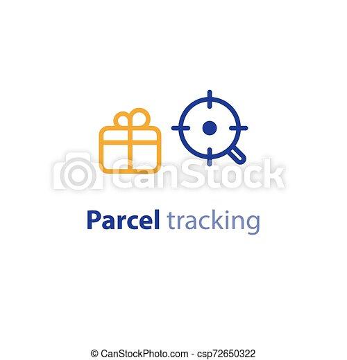 recherche, paquet, parameters, options, expédition, services, expédition - csp72650322