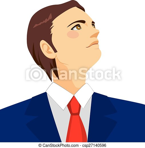 regarder, homme affaires, haut, horizon - csp27140596