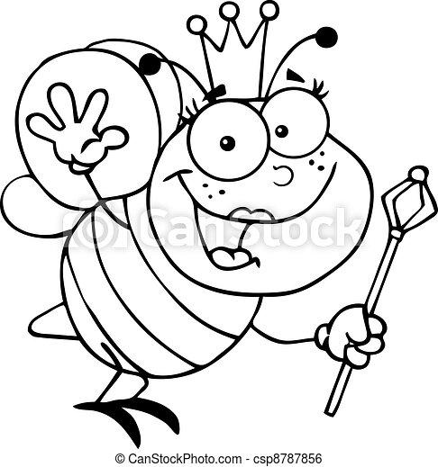 reine, esquissé, abeille - csp8787856