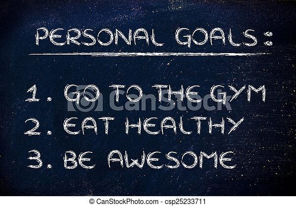 resolutions:, fitness, gymnase, nouvelle année - csp25233711