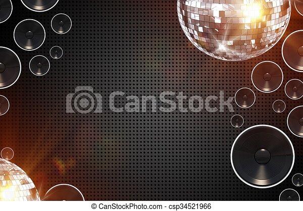 retro, fond, disco - csp34521966