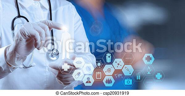 reussite, fonctionnement, docteur, monde médical, conc, opération, intelligent, salle - csp20931919
