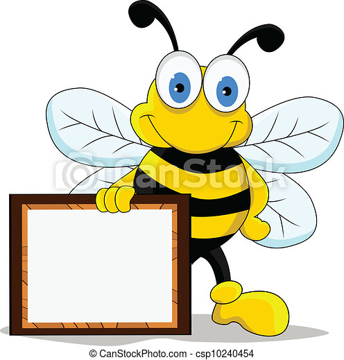 rigolote, caractère, dessin animé, abeille - csp10240454