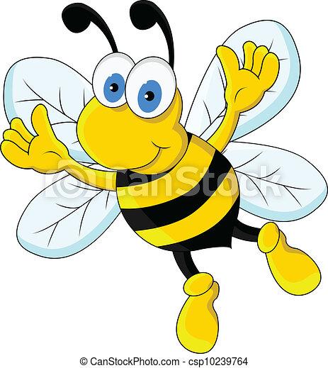 rigolote, caractère, dessin animé, abeille - csp10239764