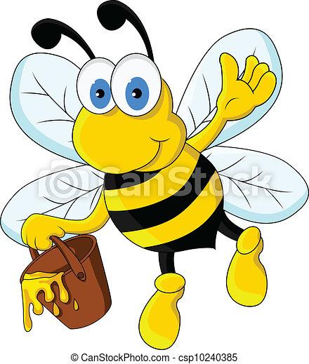 rigolote, caractère, dessin animé, abeille - csp10240385