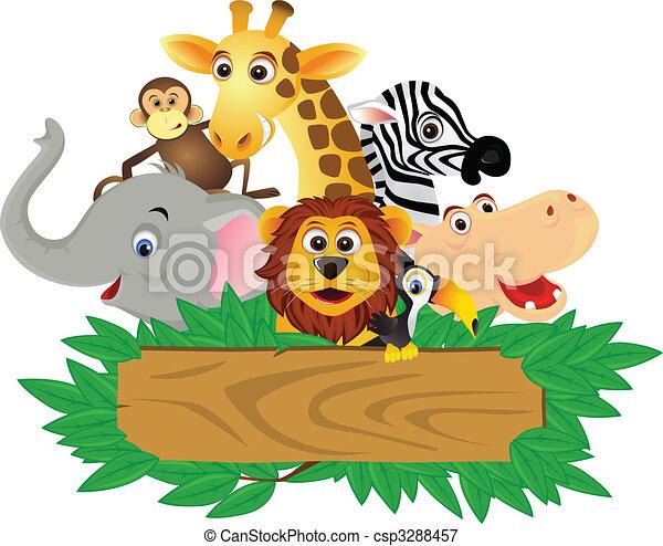 rigolote, dessin animé, animal - csp3288457