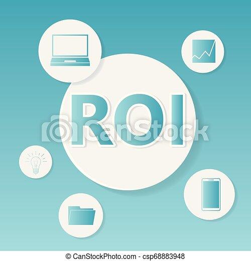 roi, concept, (return, business, investment) - csp68883948