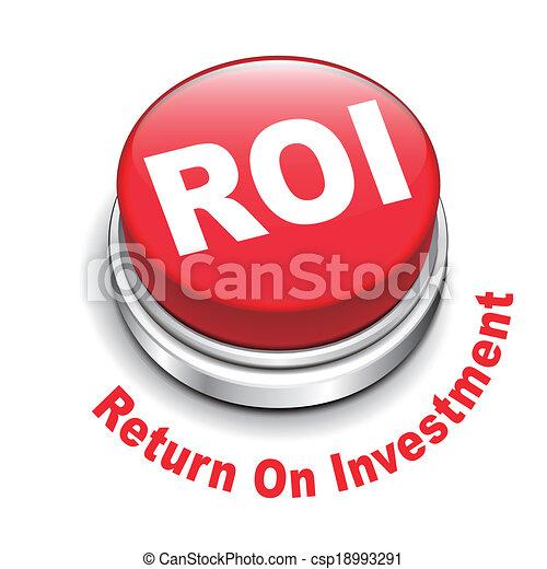 roi, investment), bouton, illustration, (return, 3d - csp18993291