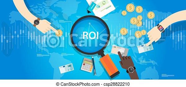 roi, retour, investissement - csp28822210