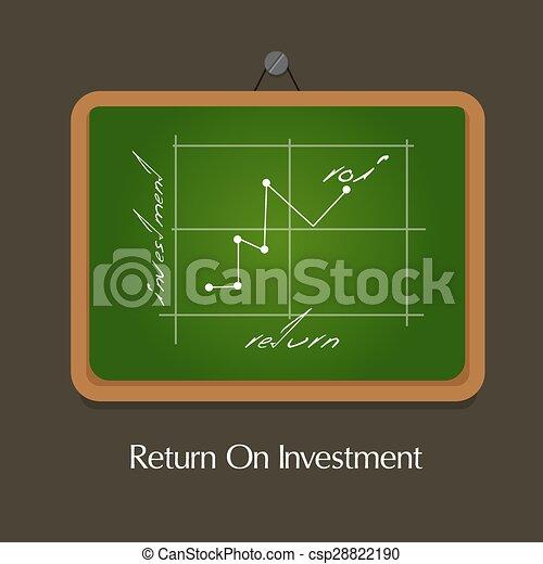 roi, retour, investissement - csp28822190