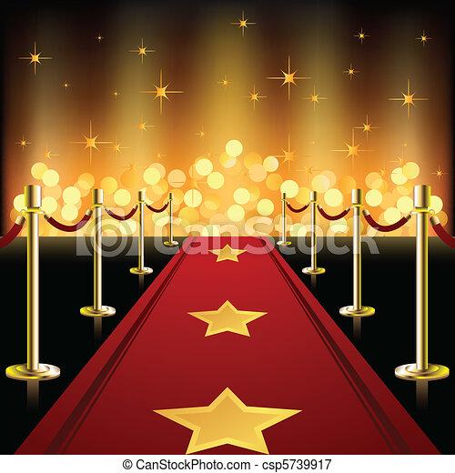 rouges, étoiles, moquette - csp5739917