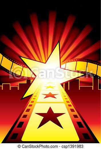 route, étoiles - csp1391983