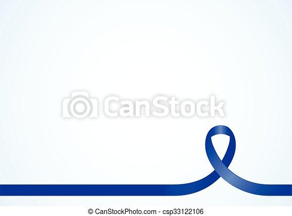 ruban, conscience, bleu - csp33122106