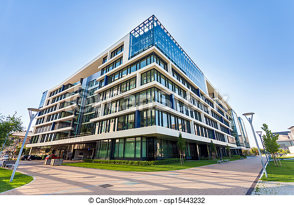 ruelle, bâtiments, moderne, budapest, bureau - csp15443232