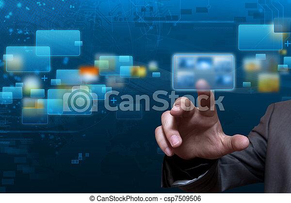 ruisseler, écran, technologie - csp7509506