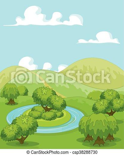 rural, magie, paysage - csp38288730