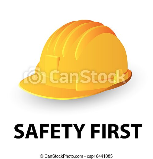 sécurité, chapeau dur, jaune - csp16441085