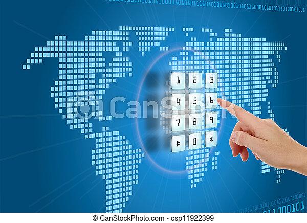 sécurité, concept, protection, internet - csp11922399