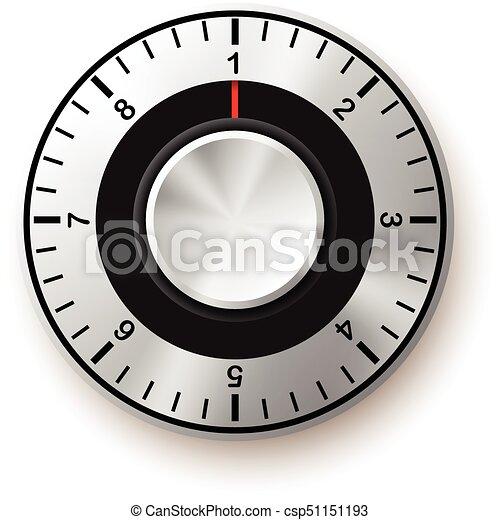 sécurité, sûr, concept., icon., cadran - csp51151193