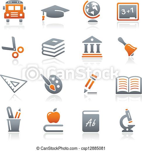 //, série, education, graphite, icônes - csp12885081