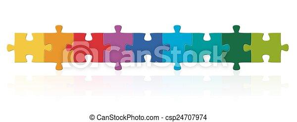 série, puzzle, coloré, morceaux - csp24707974