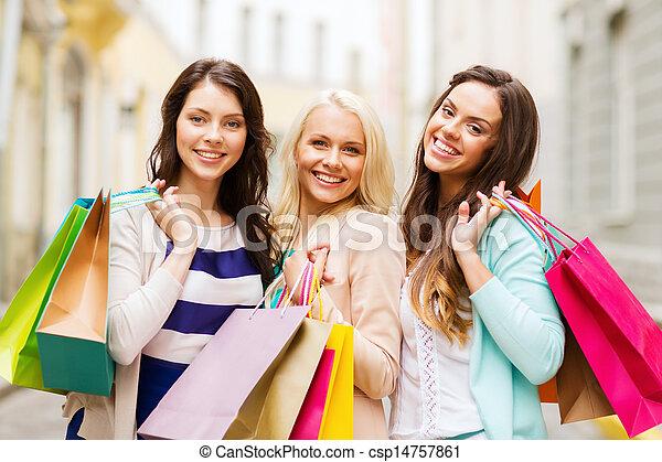 sacs, filles, achats, ctiy - csp14757861