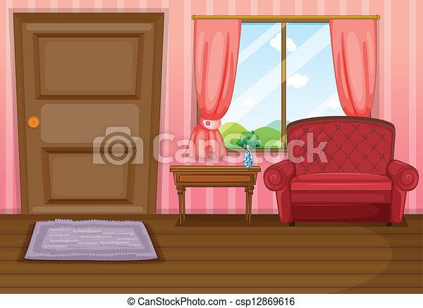 salle de séjour, vide - csp12869616
