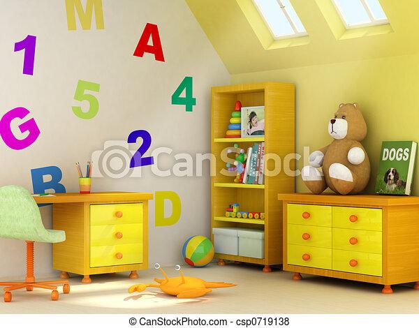 salle, enfants - csp0719138