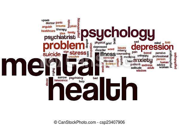santé, mot, mental, nuage - csp23407906