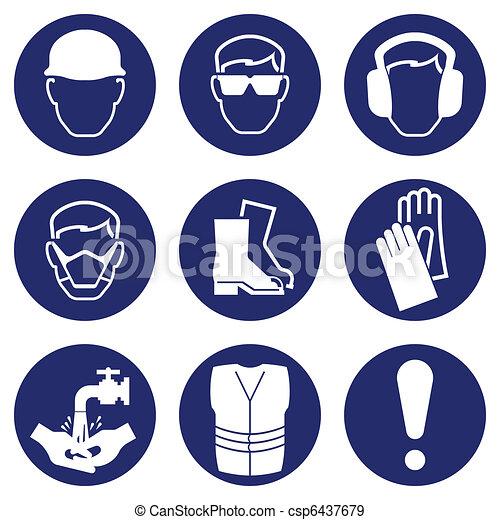 santé, sécurité, icônes - csp6437679