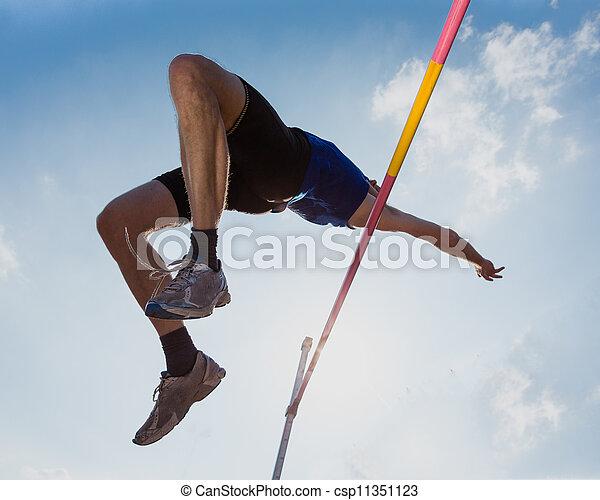 saut, piste, élevé, champ - csp11351123