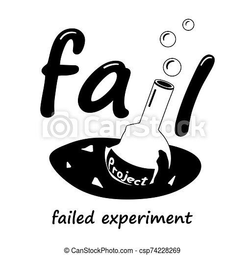science, project., cassé, flacon - csp74228269