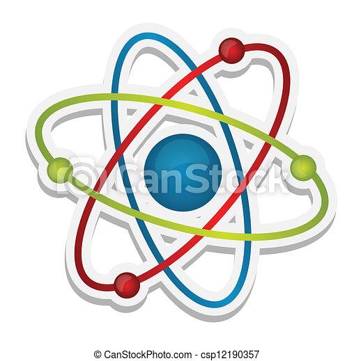 science, résumé, icône, atome - csp12190357