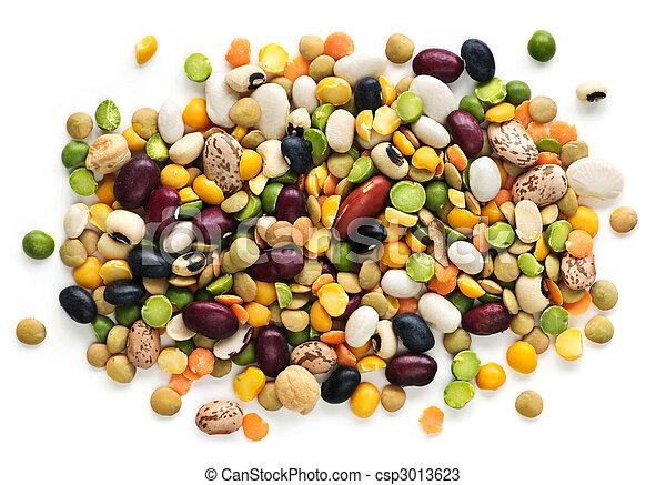 sec, haricots, pois - csp3013623