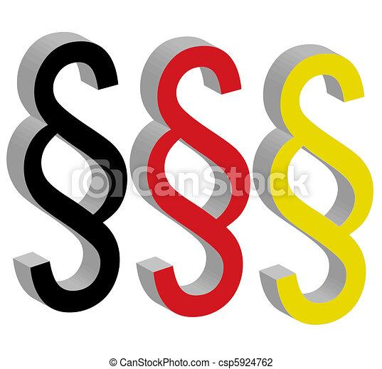section, paragraphe, symbole, droit & loi - csp5924762
