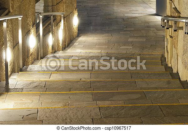 sentier, éclairé - csp10967517