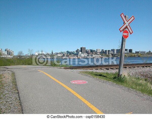sentier, vélo, ottawa - csp0158430