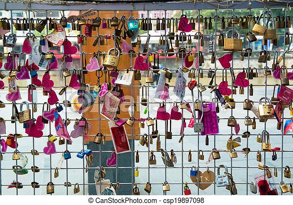 serrures, amour, pont - csp19897098