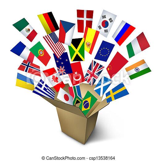 services, global, expédition - csp13538164