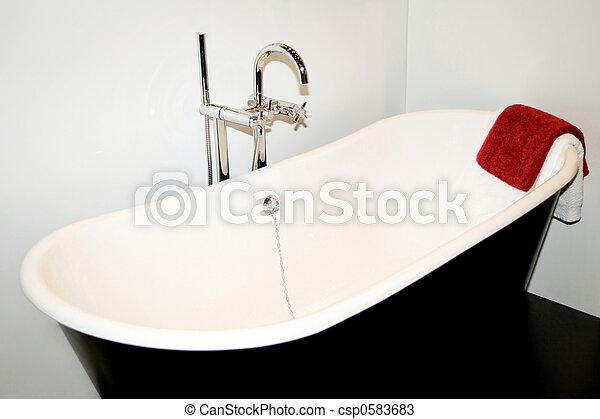 serviette, bain - csp0583683