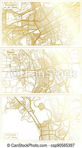 set., douvres, usa, vermont, ville, alabama, burlington, carte, delaware, birmingham - csp90565397