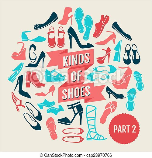 shoes., partie, 2, genres - csp23970766