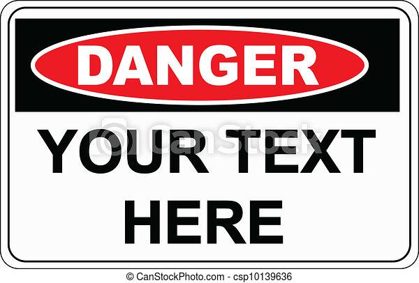 signe danger - csp10139636