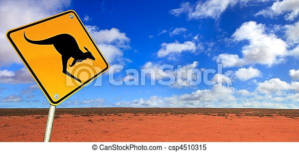 signe route kangourou - csp4510315