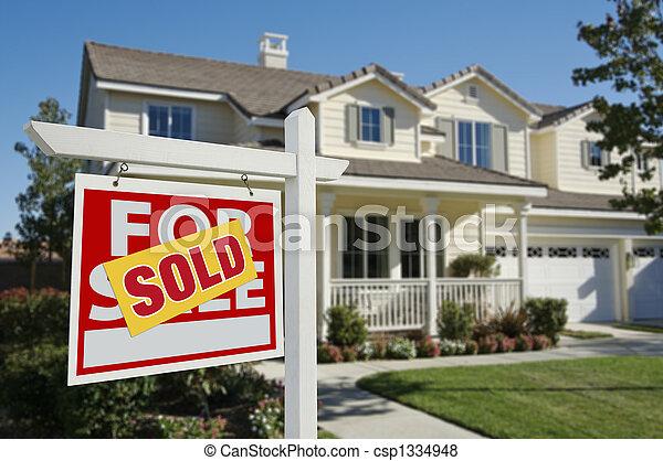 signe vendu, nouvelle maison - csp1334948