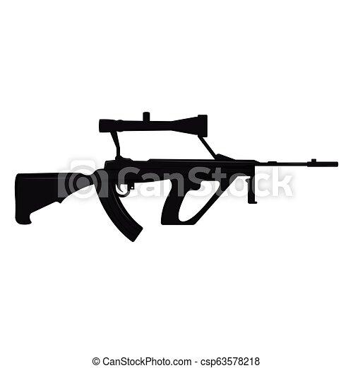 silhouette, fusil - csp63578218