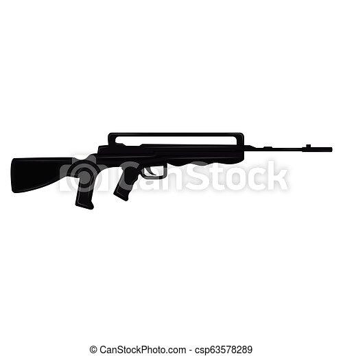 silhouette, fusil - csp63578289