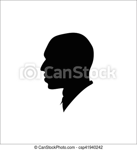 silhouette, homme - csp41940242