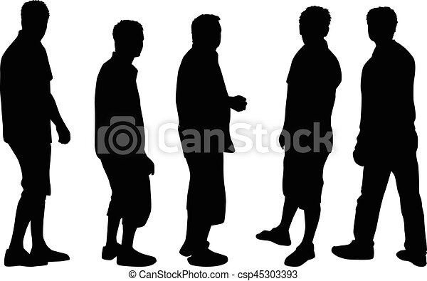 silhouette, man. - csp45303393